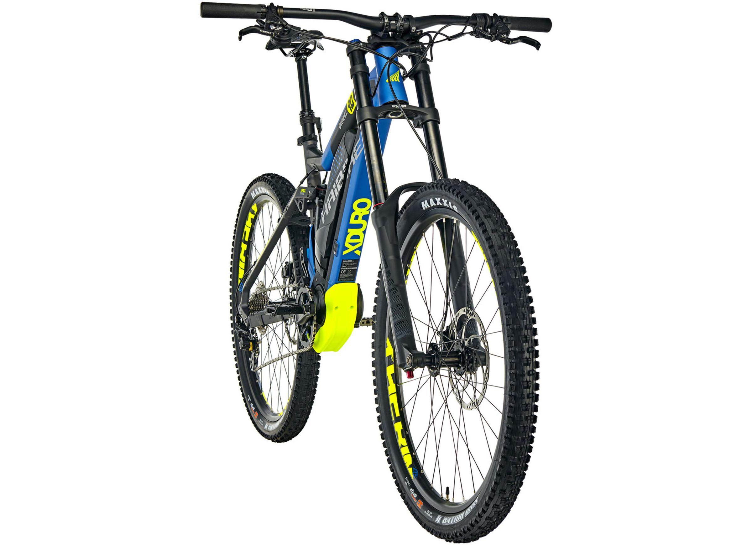 HAIBIKE XDURO Dwnhll 9.0 E-MTB fullsuspension grå/blå | Find cykeltilbehør på nettet | Bikester.dk